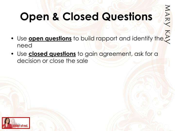 Open & Closed Questions