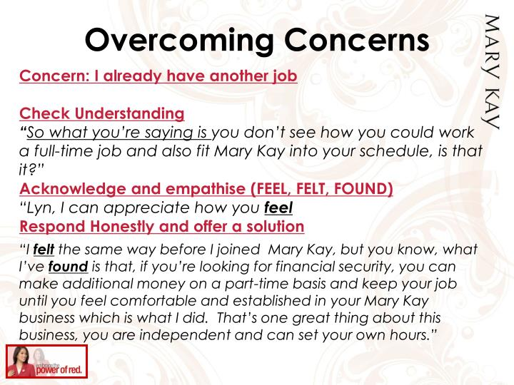 Overcoming Concerns