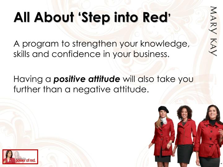 All About 'Step into Red