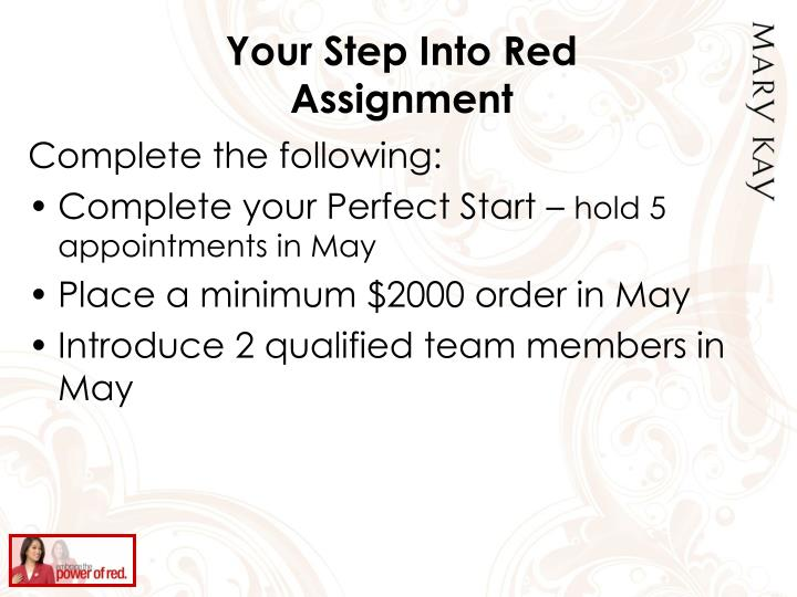 Your Step Into Red