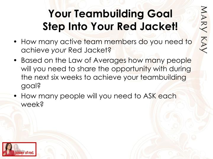Your Teambuilding Goal