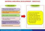 national industrial development objectives