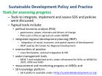 sustainable development policy and practice1