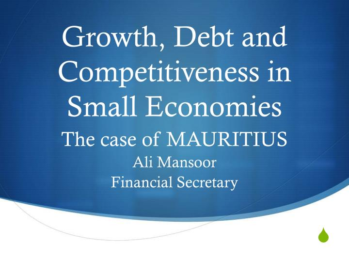 growth debt and competitiveness in small economies