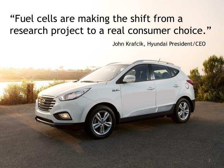 """Fuel cells are making the shift from a research project to a real consumer choice."""