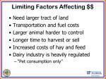 limiting factors affecting3