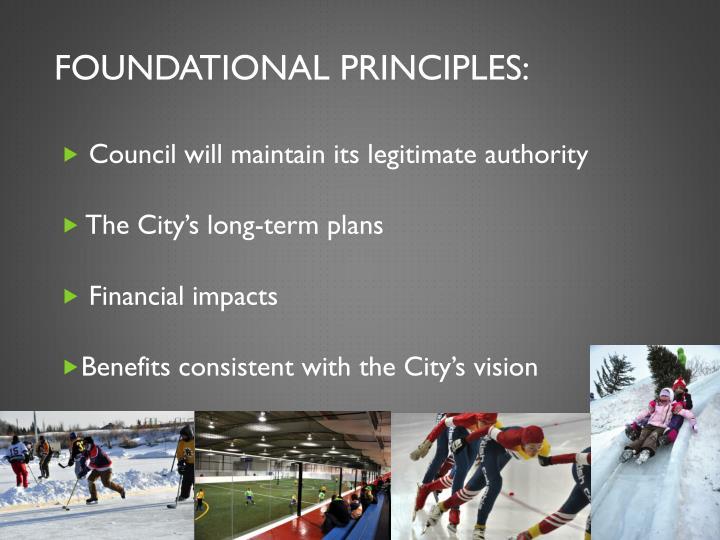 Foundational Principles: