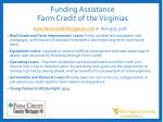 funding assistance farm credit of the virginias