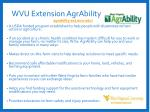 wvu extension agrability