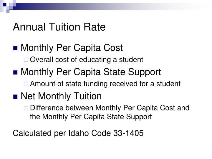Annual Tuition Rate