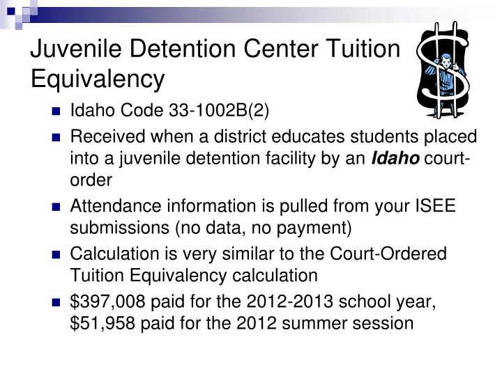 Juvenile Detention Center Tuition Equivalency