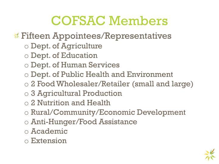 COFSAC Members