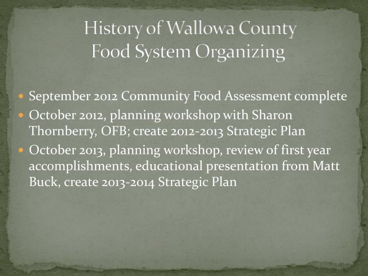 History of Wallowa County