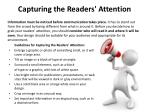 capturing the readers attention