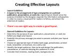 creating effective layouts