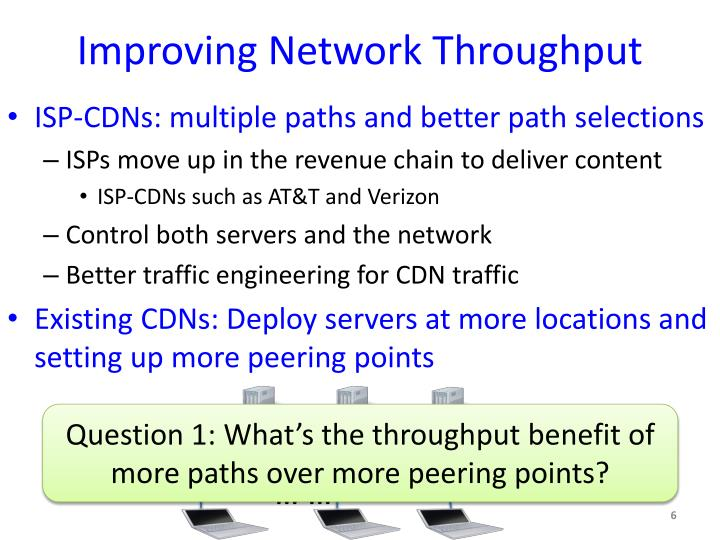 Improving Network Throughput