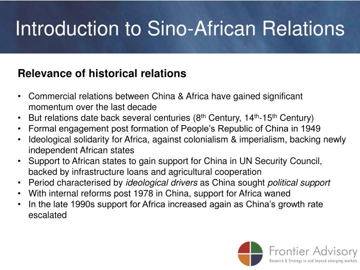 Introduction to Sino-African Relations