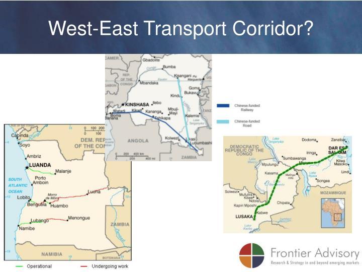 West-East Transport Corridor?