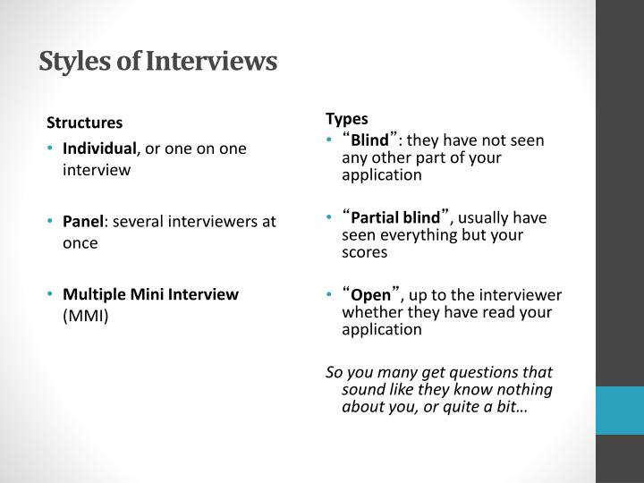 Styles of Interviews