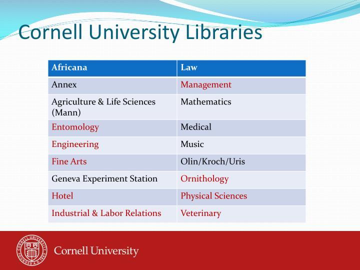 Cornell University Libraries