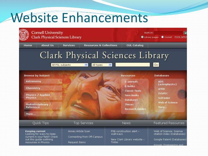 Website Enhancements
