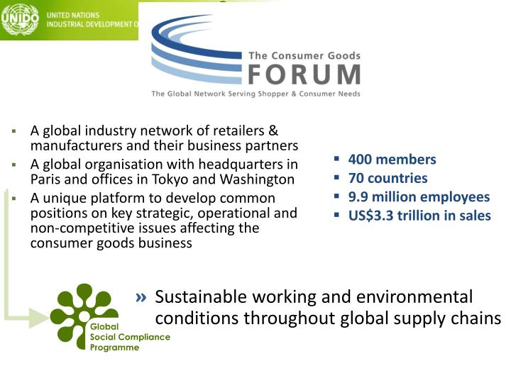 A global industry network of retailers & manufacturers and their business partners