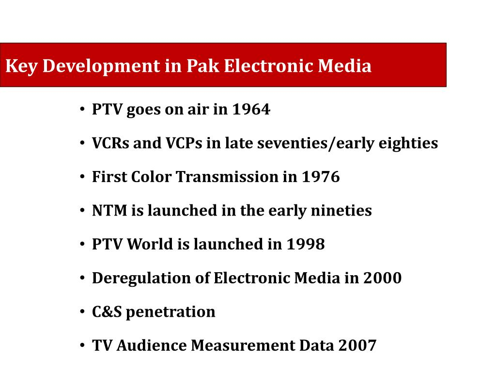 PPT - The State of Electronic Media in Pakistan PowerPoint