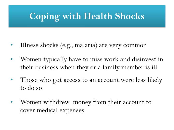 Coping with Health Shocks