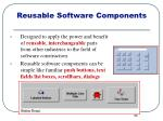 reusable software components