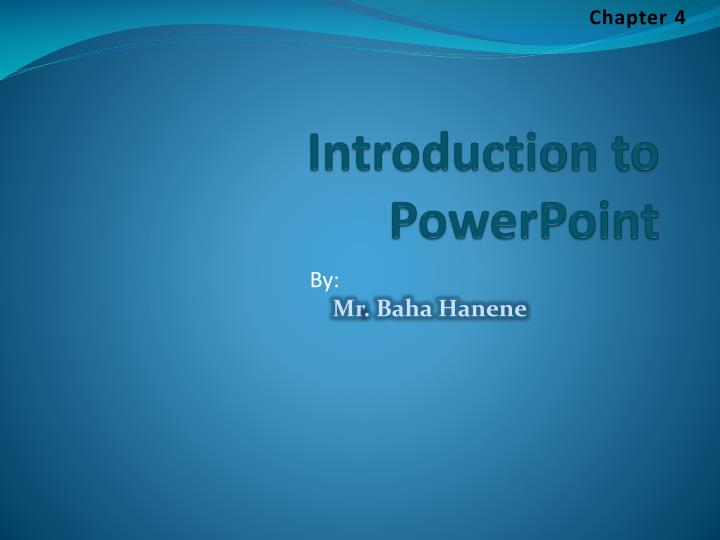 introduction to powerpoint n.