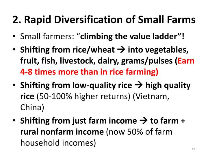 2. Rapid Diversification of Small Farms