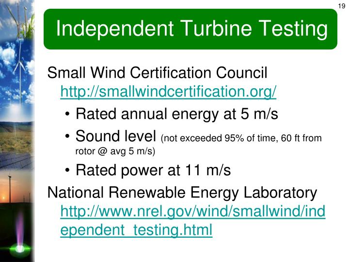 Independent Turbine Testing