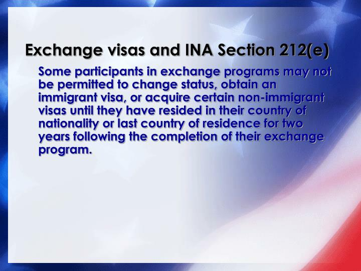 Exchange visas and INA Section 212(e)