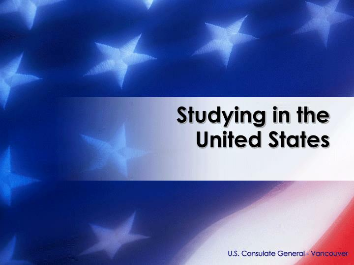 Studying in the