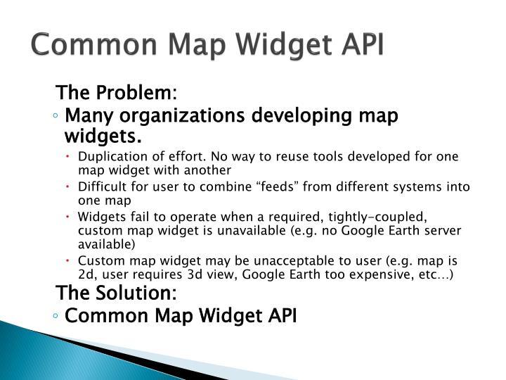 Common map widget api2
