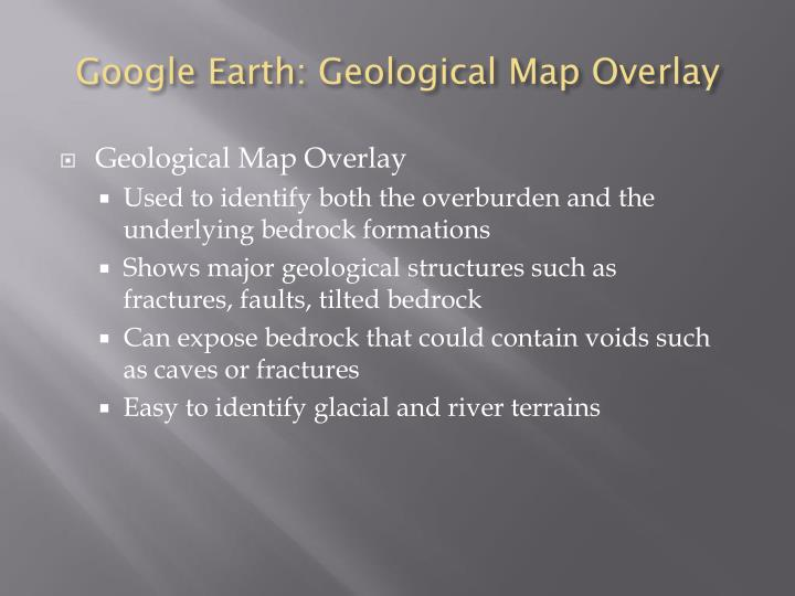 Google Earth: Geological Map Overlay