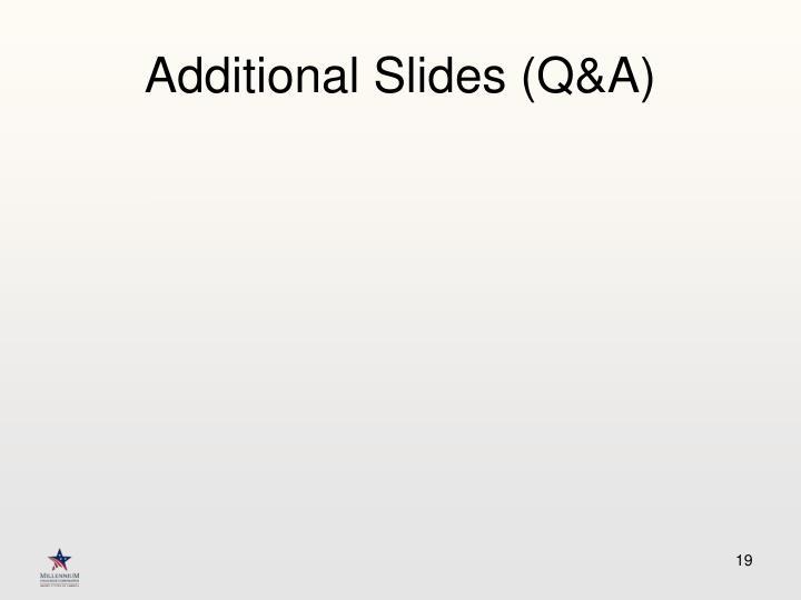 Additional Slides (Q&A)