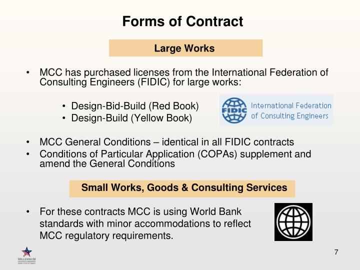 Forms of Contract