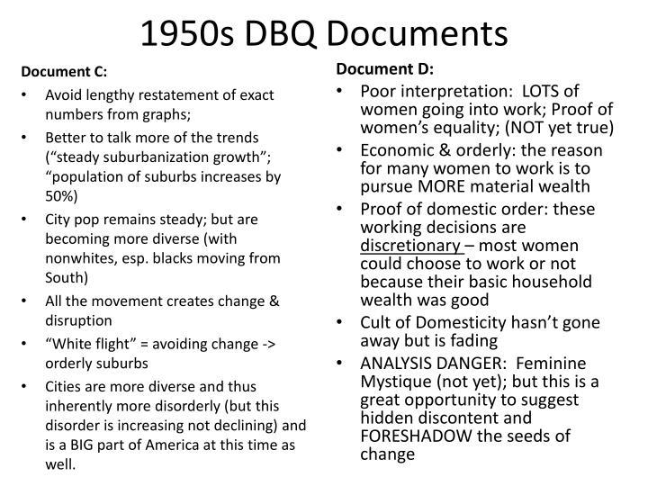 conformity 1950s dbq essays