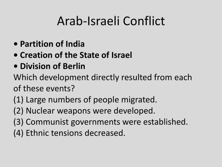 Arab-Israeli Conflict