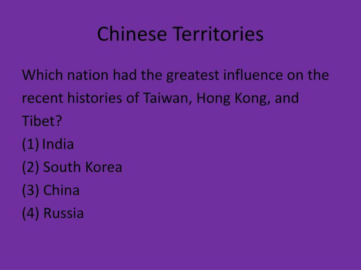 Chinese Territories