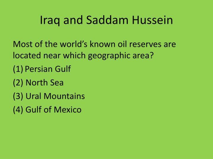 Iraq and Saddam Hussein