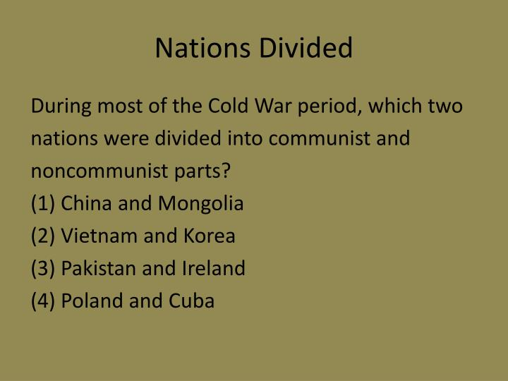 Nations Divided
