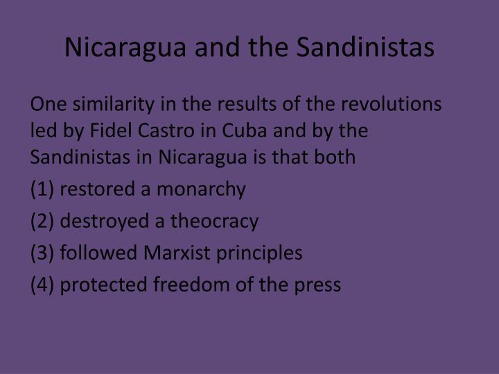 Nicaragua and the Sandinistas