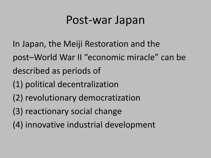 Post-war Japan