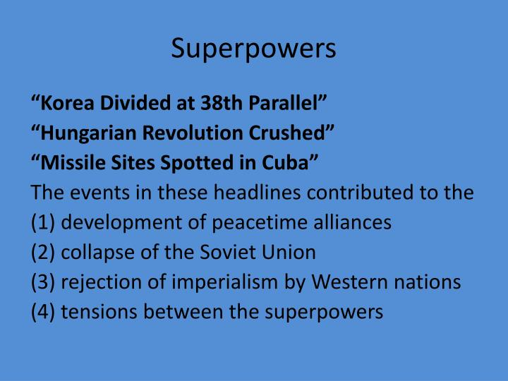 Superpowers