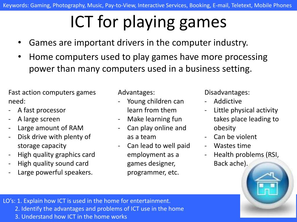 PPT - 4 1 6(c) Uses of ICT in the home/ 1 Entertainment PowerPoint