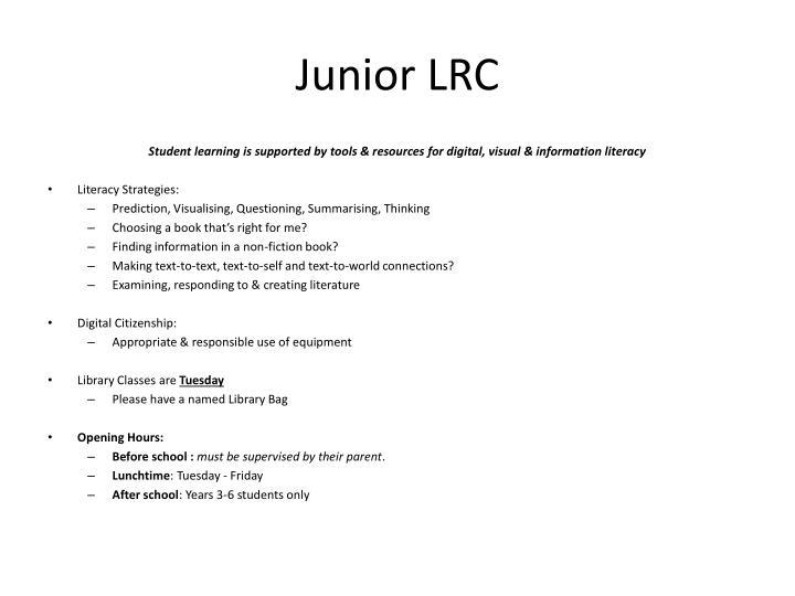 Junior LRC