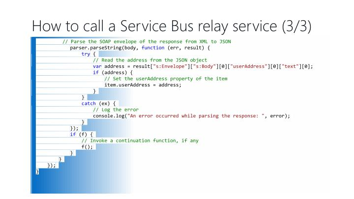 How to call a Service Bus relay service