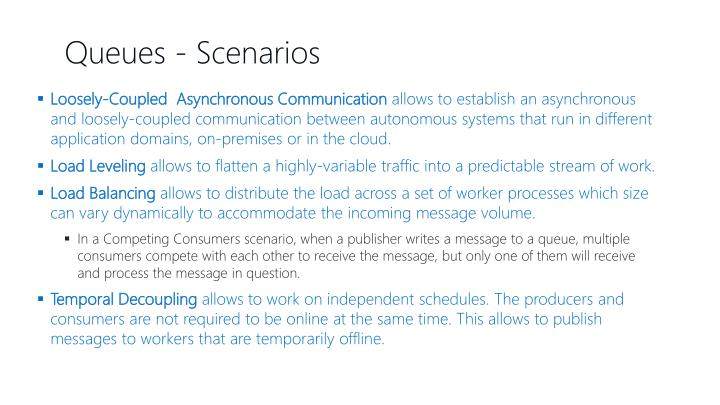 Loosely-Coupled  Asynchronous Communication